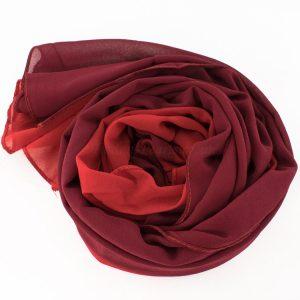 Fusion Chiffon Scarf Red & Garnet 4