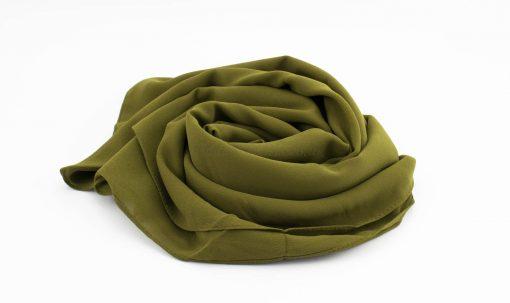 Limited Edition Pearl Chiffon Hijab- Army Green - Hidden Pearls