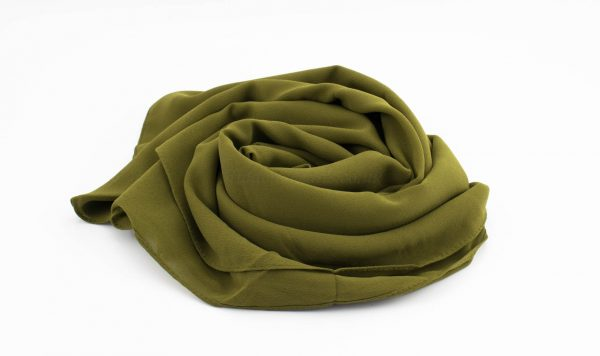 Limited Edition Pearl Chiffon Hijab- Army Green - Hidden Pearls