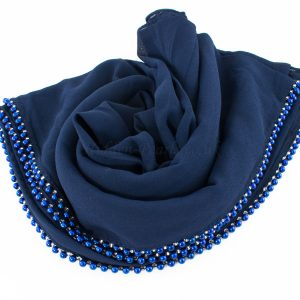 Limited Edition Pearl Pearl Chiffon Navy Blue
