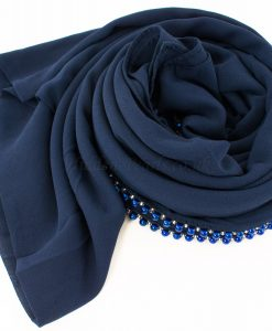 Limited Edition Pearl Pearl Chiffon Navy Blue 4