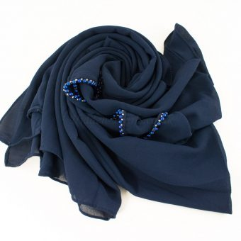 Limited Edition Pearl Pearl Chiffon Navy Blue 6