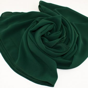Deluxe chiffon forest green 10