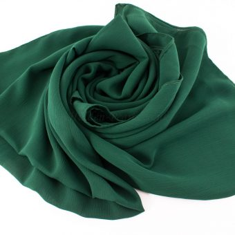 Deluxe chiffon forest green 3