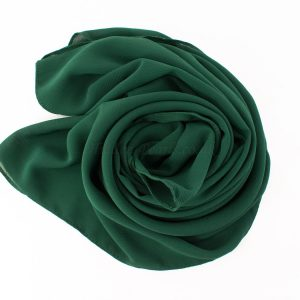 Deluxe chiffon forest green 5