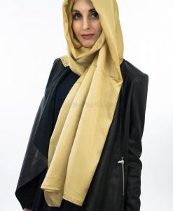 Silk Hijab - Gold - Hidden Pearls