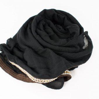 Zirconia & Pearl Hijab Black 3