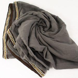 Zirconia & Pearl Hijab Grey 2