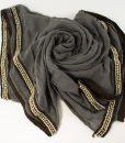 Zirconia & Pearl Hijab Grey 3