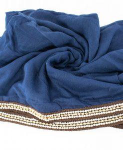 Zirconia & Pearl Hijab Navy Blue