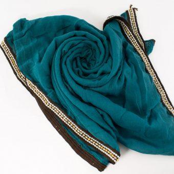 Zirconia & Pearl Hijab Teal 2