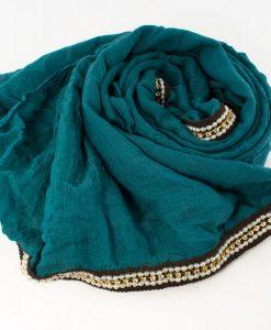 Zirconia & Pearl Hijab Teal 5