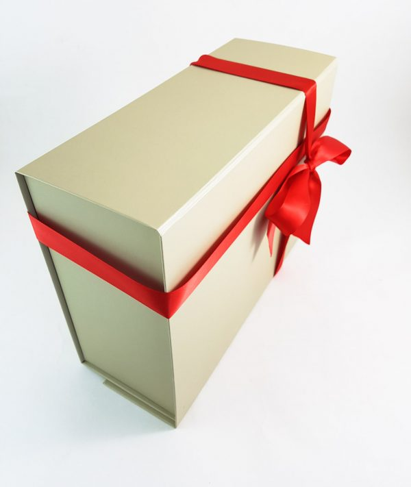 Large Ivory Islamic Gift Box Packaging with Red Ribbon - Islamic Gifts