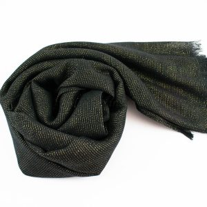 Occasion Shimmer Hijab Black 2