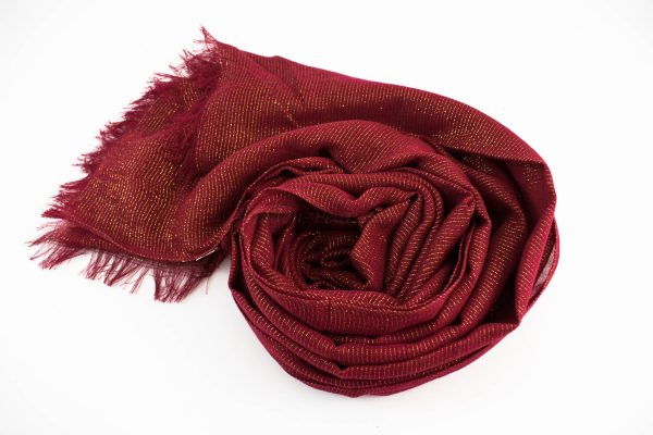 Occasion Shimmer Hijab Burgundy 3