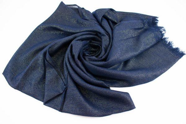 Occasion Shimmer Hijab Midnight Blue 2