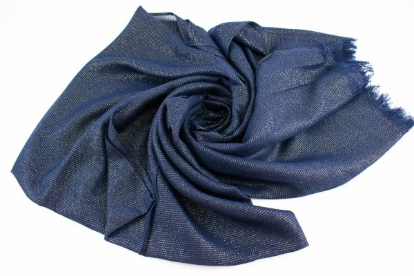 Occasion Shimmer Hijab Midnight Blue