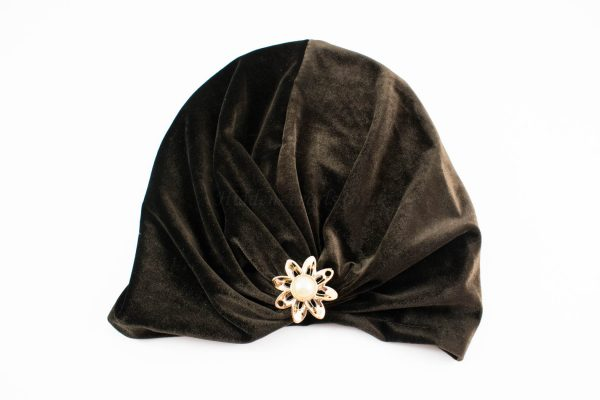 Turban Chocolate Brown With Brooch