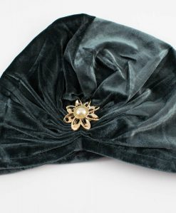 Turban Dark Grey With Brooch