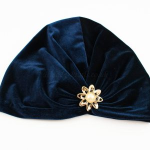 Turban Midnight Blue with Brooch