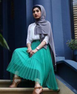 Chiffon Hijab - Grey - Hidden Pearls