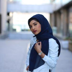 Chiffon Hijab - Midnight- Hidden Pearls