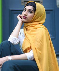 Chiffon Hijab - Mustard - Hidden Pearls