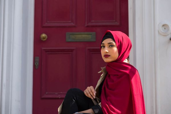 Chiffon Hijab - Red - Hidden Pearls copy