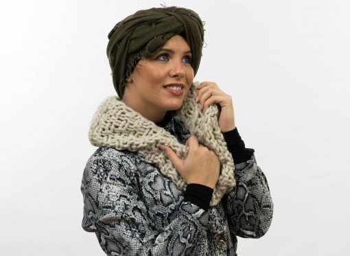 Crimp Hijab - Army Green 8 - Hidden Pearls