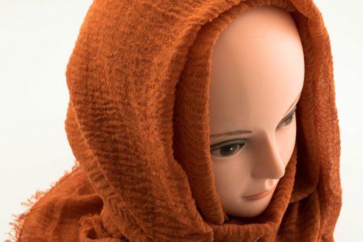 Crimp Hijab - Burnt Orange 2 - Hidden Pearls