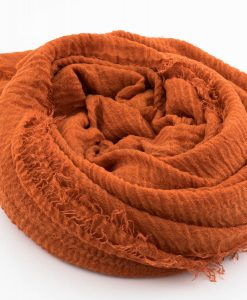 Crimp Hijab - Burnt Orange - Hidden Pearls.