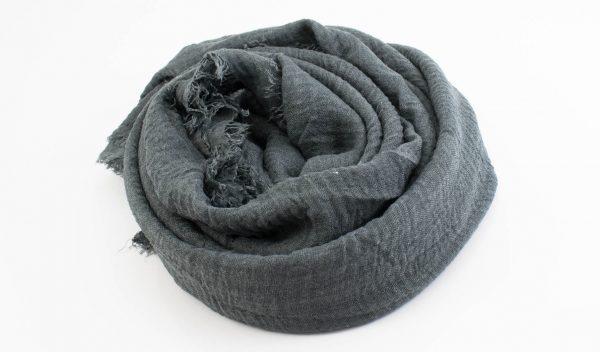 Crimp Hijab - Dark Grey- Hidden Pearls