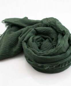 Crimp Hijab - Forest Green 2 - Hidden Pearls
