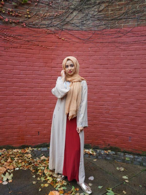 Crimp Hijab - Golden Brown - Hidden Pearls