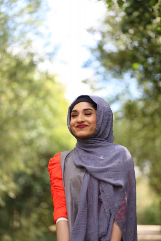 Crimp Hijab - Grey - Hidden Pearls