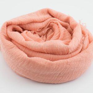 Crimp Hijab - Light Peach - Hidden Pearls