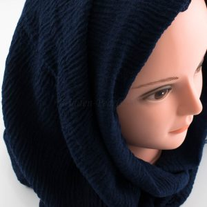 Crimp Hijab - Midnight Blue 2 - Hidden Pearls