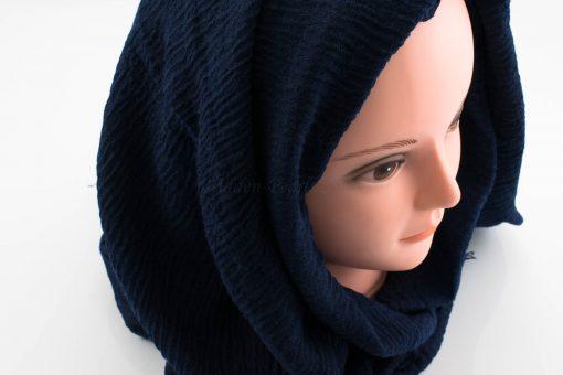 Crimp Hijab - Midnight Blue 2 - Hidden Pearls