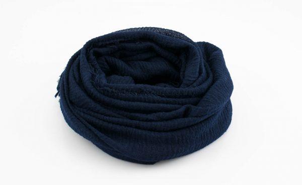 Crimp Hijab - Midnight Blue - Hidden Pearls
