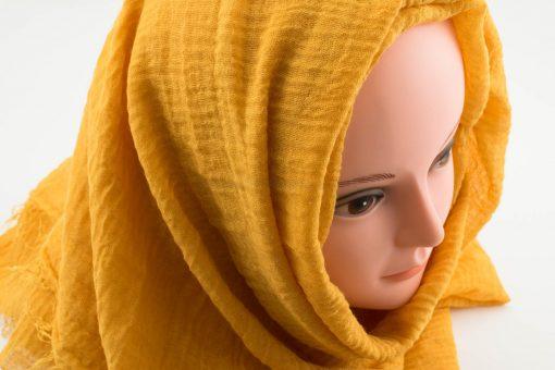 Crimp Hijab - Mustard 2 - Hidden Pearls