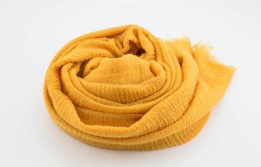 Crimp Hijab - Mustard - Hidden Pearls