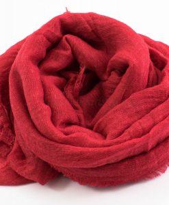 Crimp Hijab - Red - Hidden Pearls