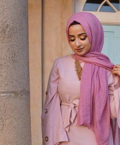 Crimp Hijab - Spanish Pink - Hidden Pearls