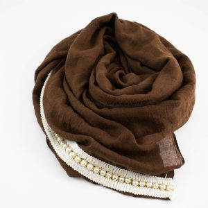Pearl & Lace Hijab Chocolate 2