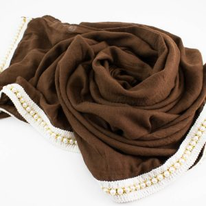 Pearl & Lace Hijab Chocolate