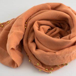 Pearl & Lace Hijab Peach 2