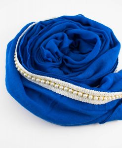 Pearl & Lace Hijab Royal Blue 2