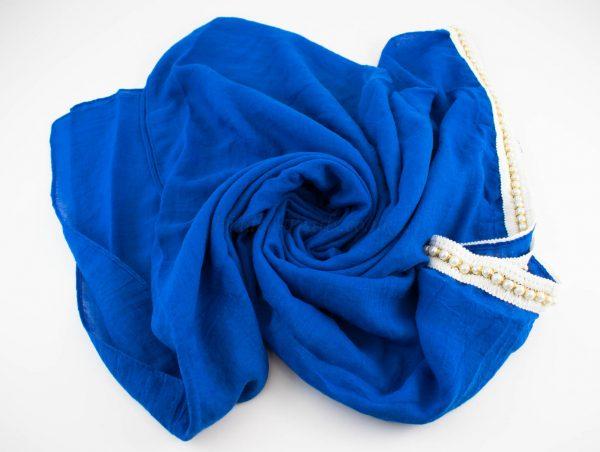 Pearl & Lace Hijab Royal Blue