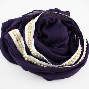 Pearl & Lace Hijab Violet:Plum