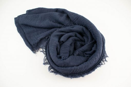 Plain Crimp Hijab Navy Blue 2